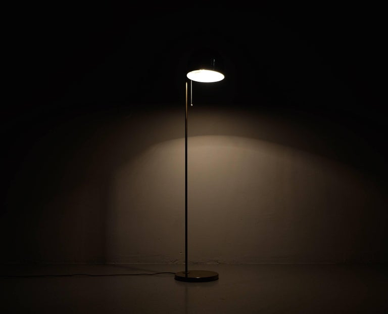 Brass Floor Lamp G-075 by Bergboms, 1960s In Excellent Condition For Sale In Stockholm, SE