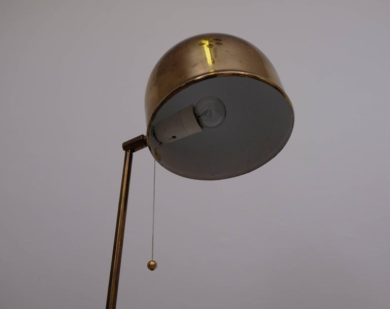 Swedish Brass Floor Lamp G-075 by Bergboms, 1960s For Sale