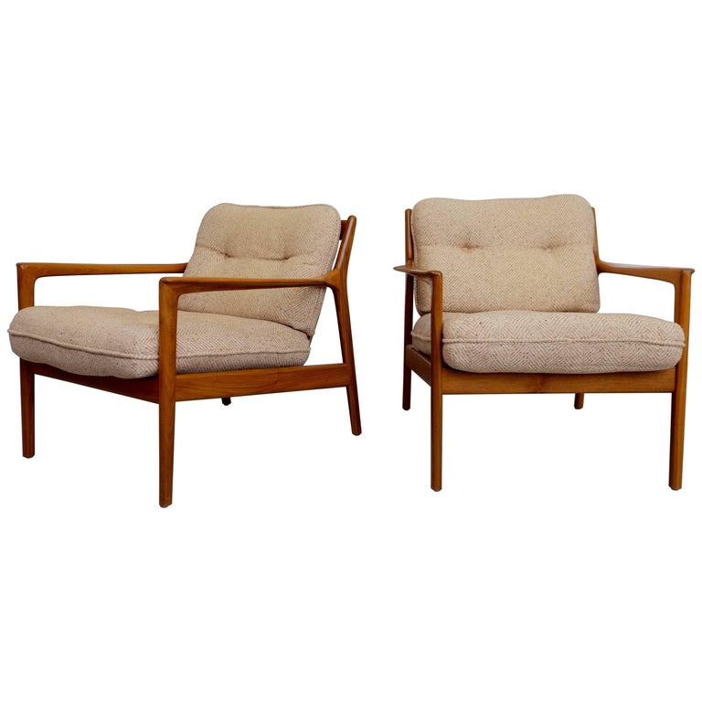 Pair of USA-75 by Folke Ohlsson for DUX, 1960s