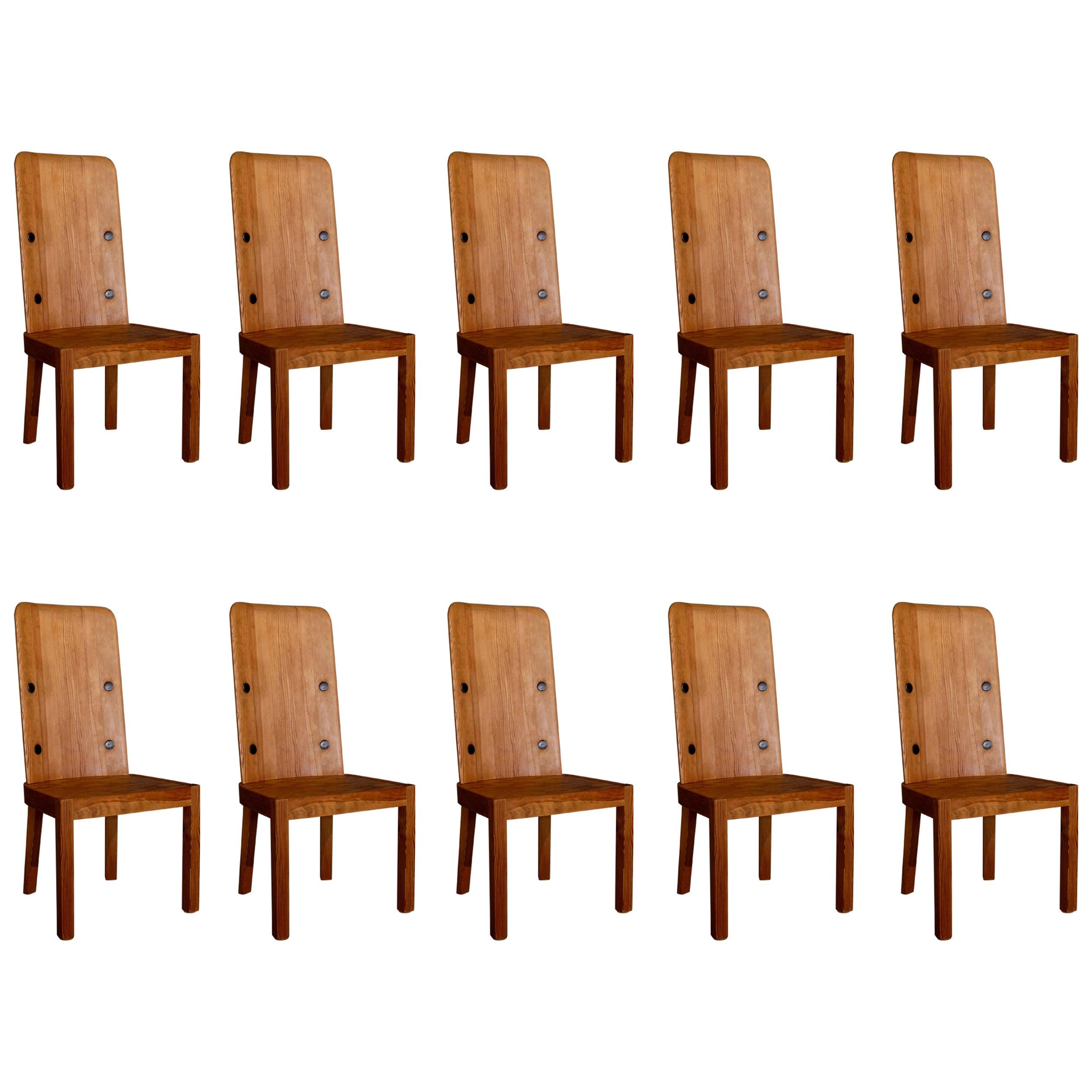 "Set of Ten ""Lovö"" Chairs by Axel Einar-Hjorth, 1930s"