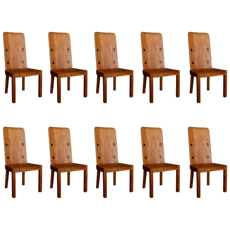 Set of 10 Axel Einar Hjorth Lovö chairs, 1930s, offered by Studio Designboard