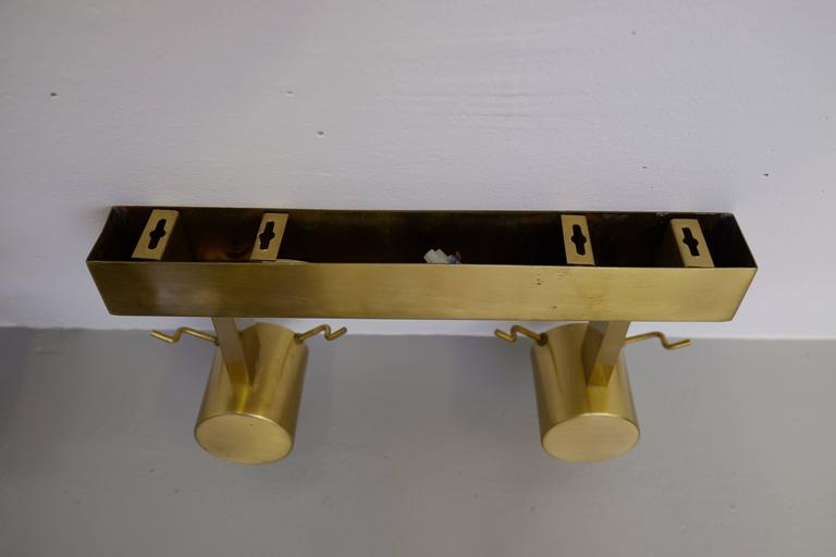 Pair of Swedish Brass Wall Lamps by Boréns, 1960s For Sale 2