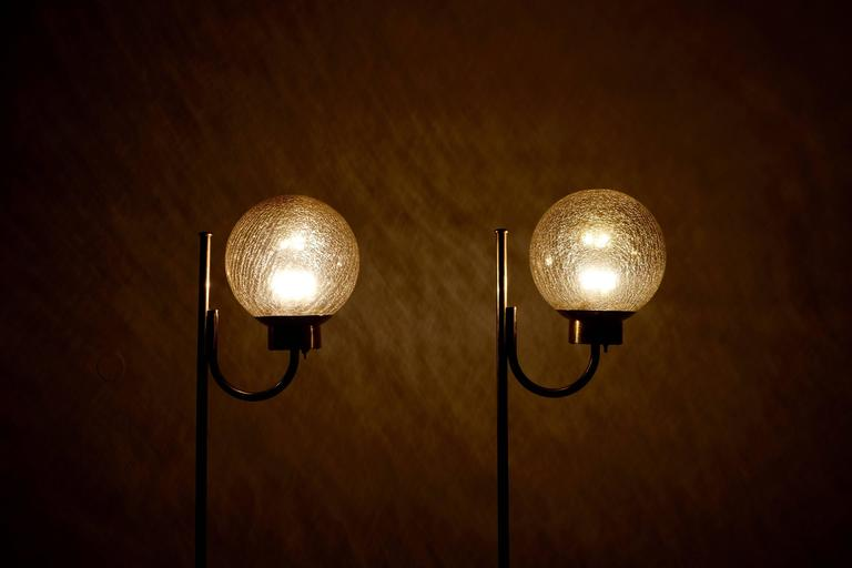 Pair of Brass Floor Lamps by Bergboms Model G-118 In Excellent Condition For Sale In Stockholm, SE