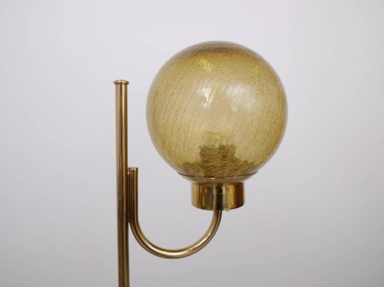 Pair of Brass Floor Lamps by Bergboms Model G-118 For Sale 1