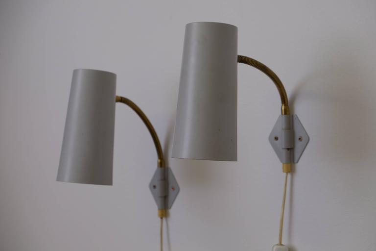 Wall light or bed light, produced in Sweden, 1950s. 