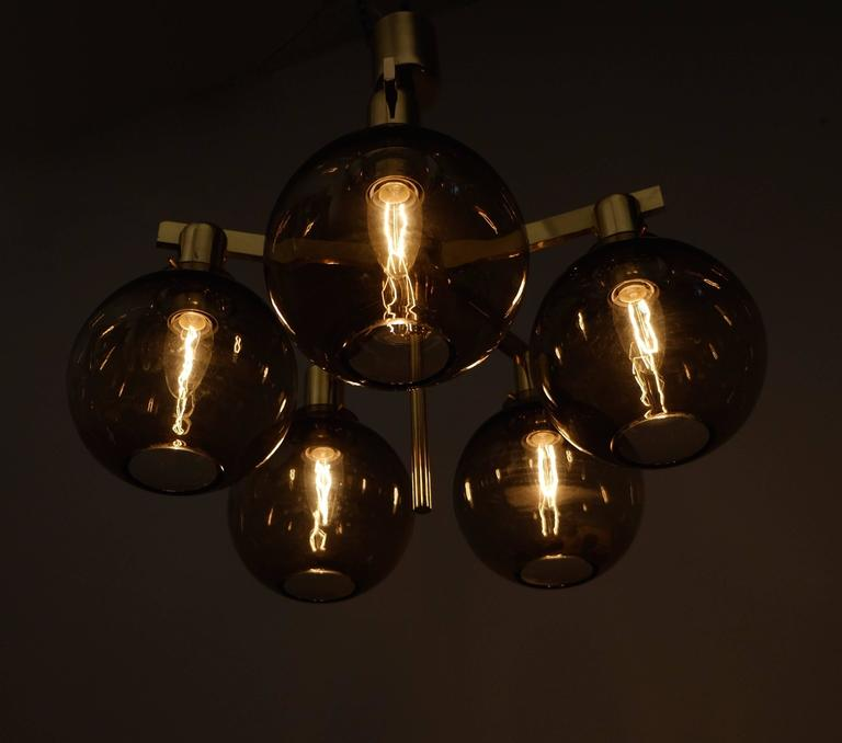 Swedish Pair of Hans-Agne Jakobsson Ceiling Lamps Model T348/5 'Pastoral', 1960s For Sale