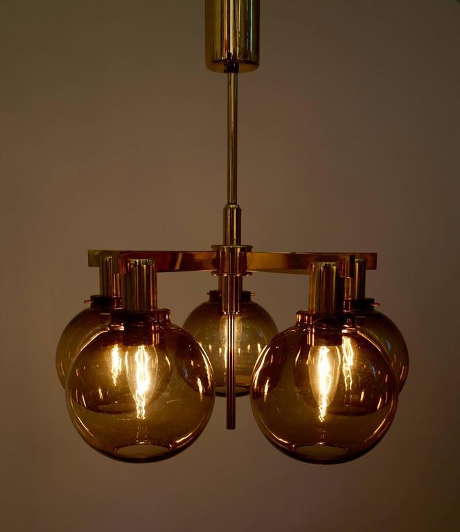Scandinavian Modern Pair of Hans-Agne Jakobsson Ceiling Lamps Model T348/5 'Pastoral', 1960s For Sale
