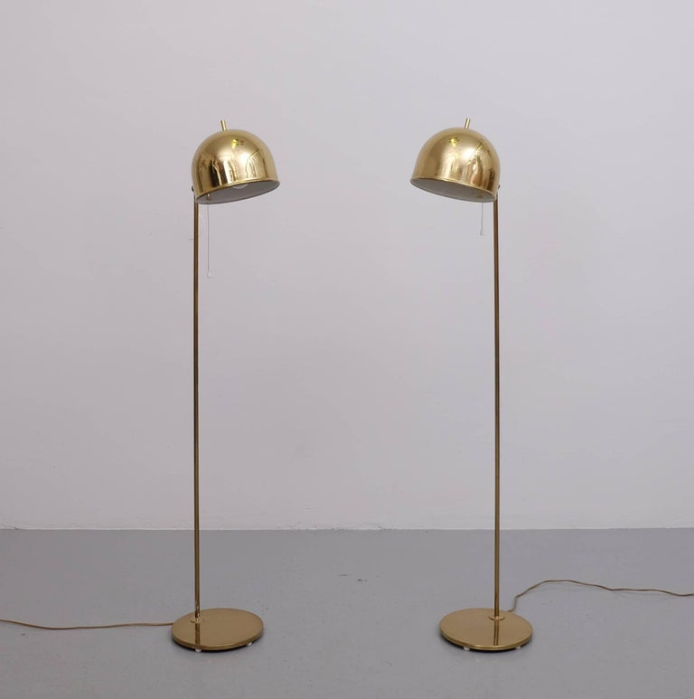 Mid-20th Century Pair of Floor Lamps, Model G-075, Bergboms, Sweden, 1960s For Sale