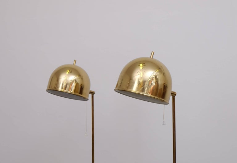 Swedish Pair of Floor Lamps, Model G-075, Bergboms, Sweden, 1960s For Sale