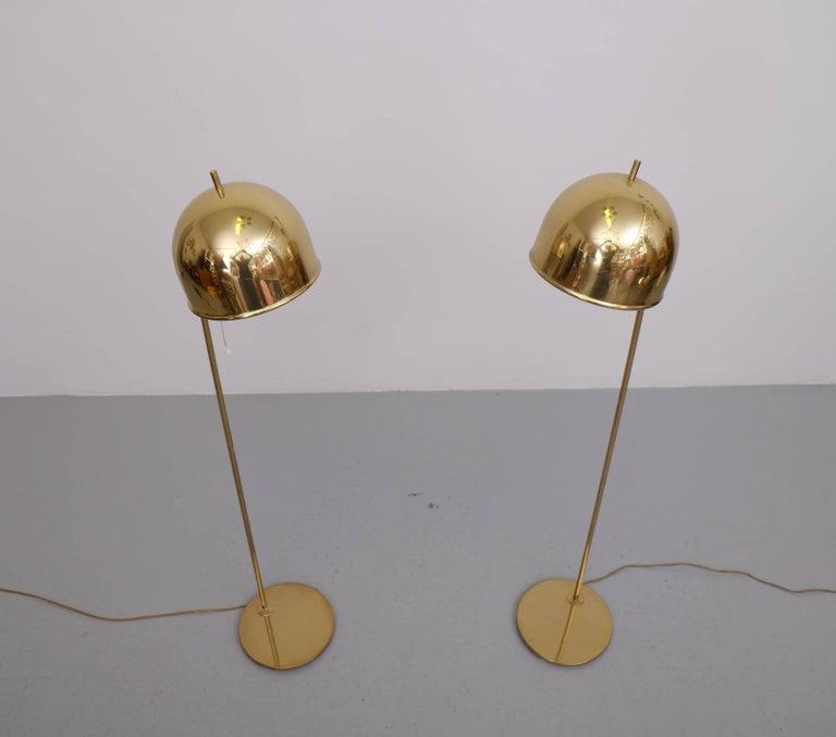Scandinavian Modern Pair of Floor Lamps, Model G-075, Bergboms, Sweden, 1960s For Sale