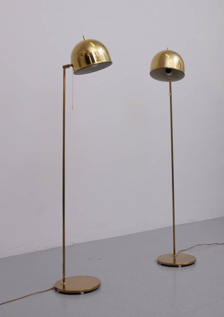 Pair of Floor Lamps, Model G-075, Bergboms, Sweden, 1960s For Sale 1