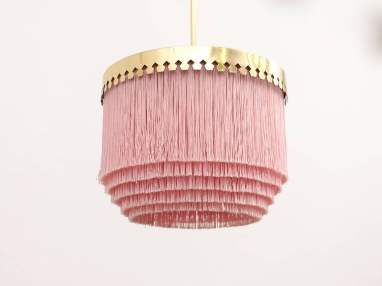 Pink Hans-Agne Jakobsson Ceiling Lamp Model T601/M, 1960s In Excellent Condition For Sale In Stockholm, SE