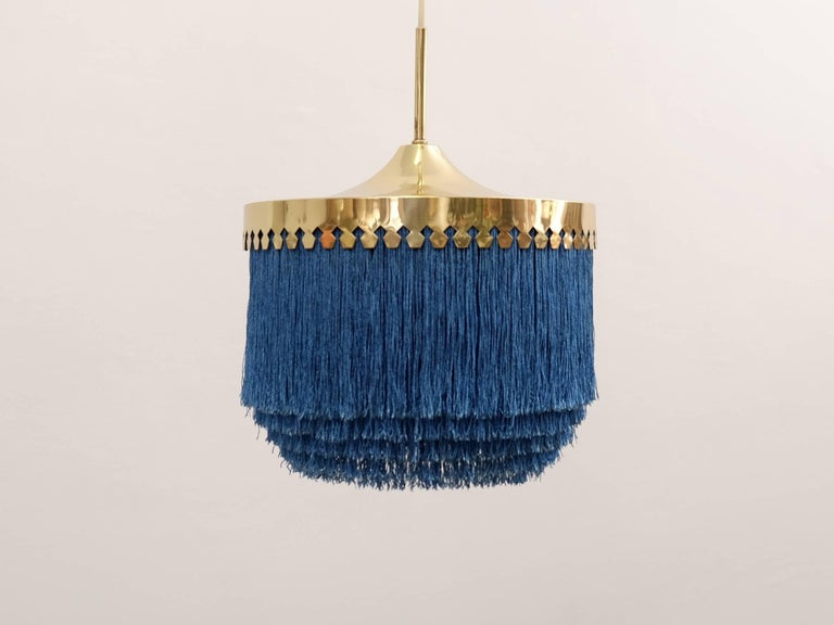 Blue fringes and brass.