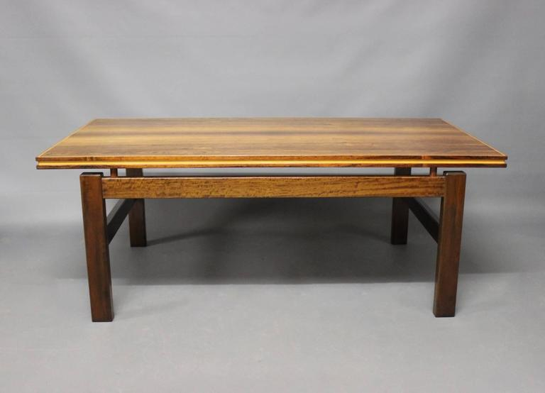 Rosewood Coffee Table Of Danish Design From The 1960s For Sale At 1stdibs