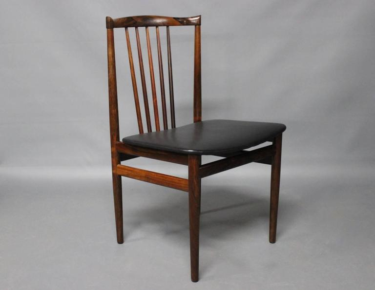 set of four dining room chairs by henning srensen 1968 2