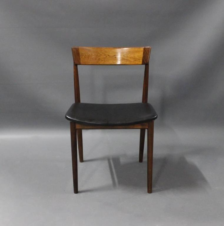 Scandinavian Modern Pair of Chairs, Model 39, by Henry Rosengren Hansen, 1960s For Sale