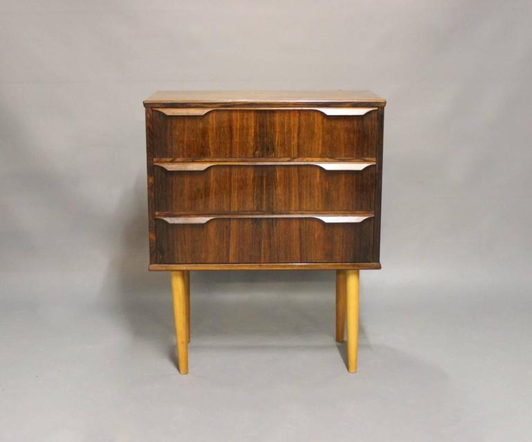 Small chest of drawers in rosewood manufactured at