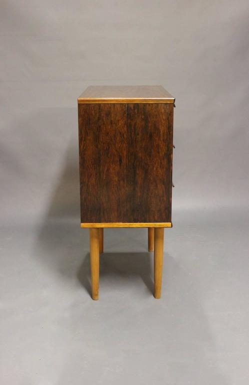 Scandinavian Modern Small Chest of Drawers in Rosewood by