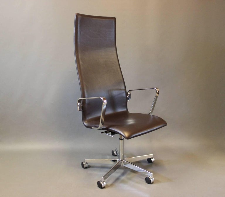 classic office chair. The Oxford Classic Office Chair, Model 3292C, In Dark Brown Elegance Leather. Designed Chair