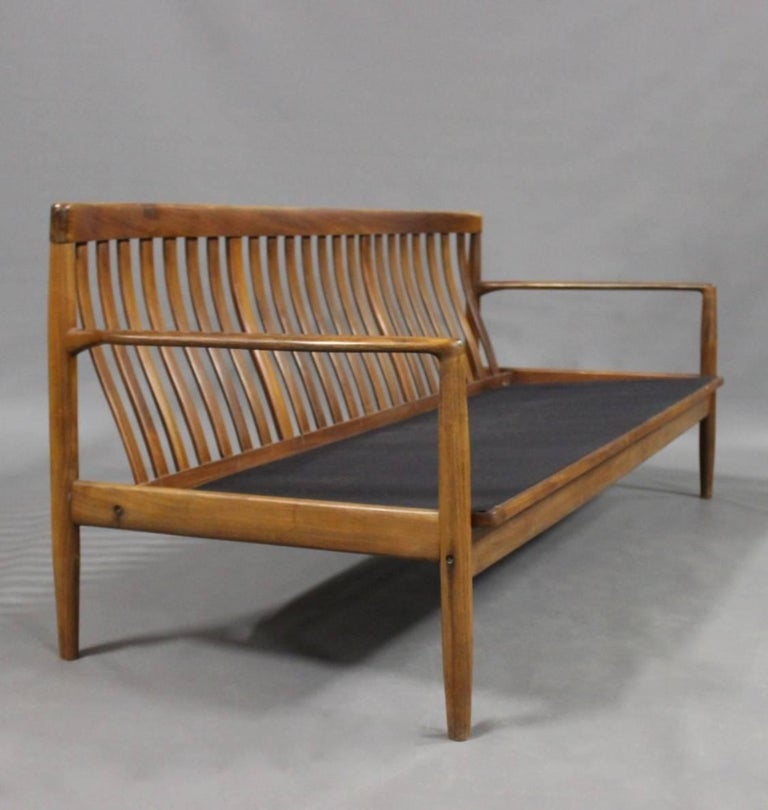 Three-Seat Sofa in Rosewood of Danish Design, 1960s In Good Condition For Sale In Lejre, DK