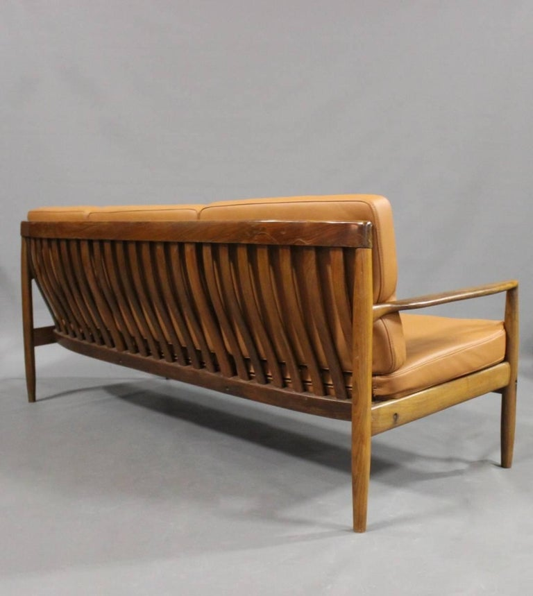 Scandinavian Modern Three-Seat Sofa in Rosewood of Danish Design, 1960s For Sale