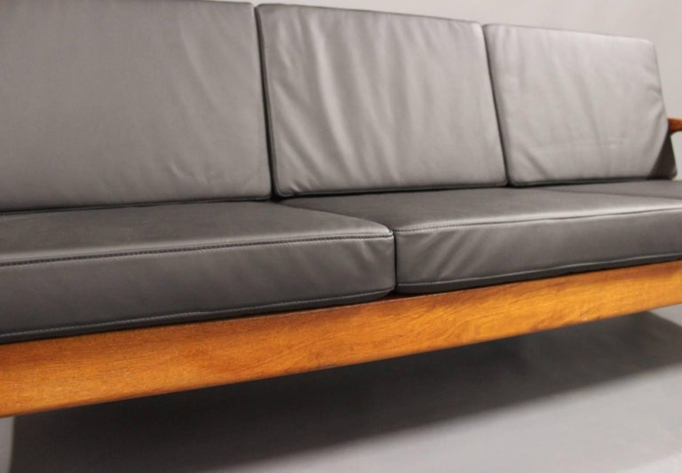 Mid-20th Century Three-Seat Sofa in Teak by Juul Kristensen and Glostrup Furniture, 1960s For Sale