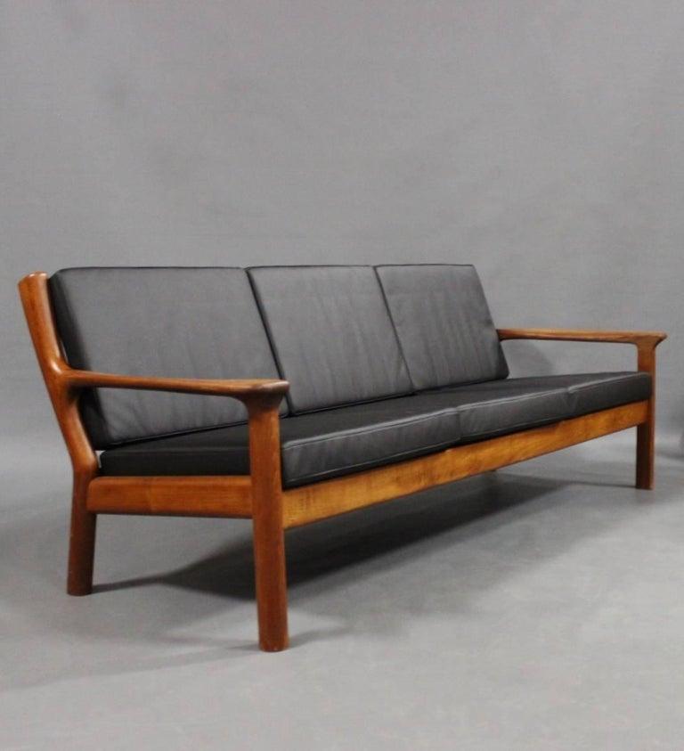 Three-Seat Sofa in Teak by Juul Kristensen and Glostrup Furniture, 1960s 2