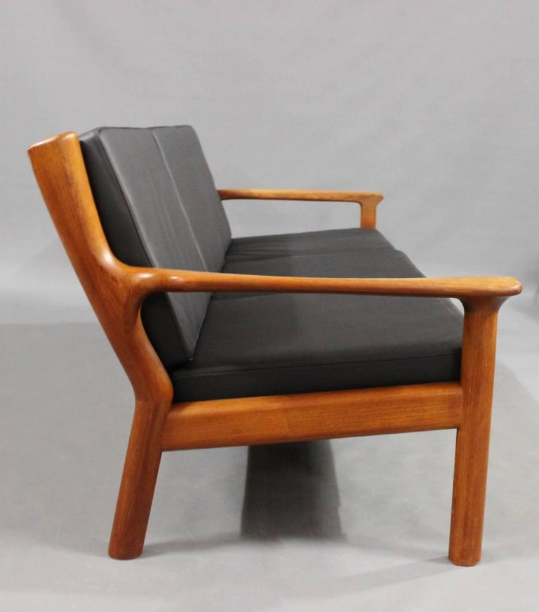 Scandinavian Modern Three-Seat Sofa in Teak by Juul Kristensen and Glostrup Furniture, 1960s For Sale