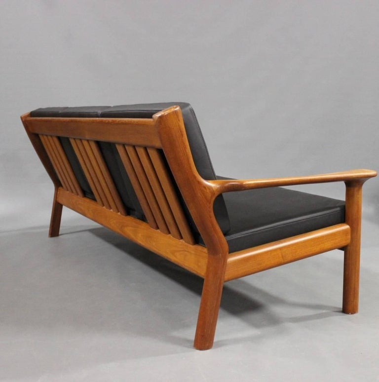 Three-Seat Sofa in Teak by Juul Kristensen and Glostrup Furniture, 1960s 4