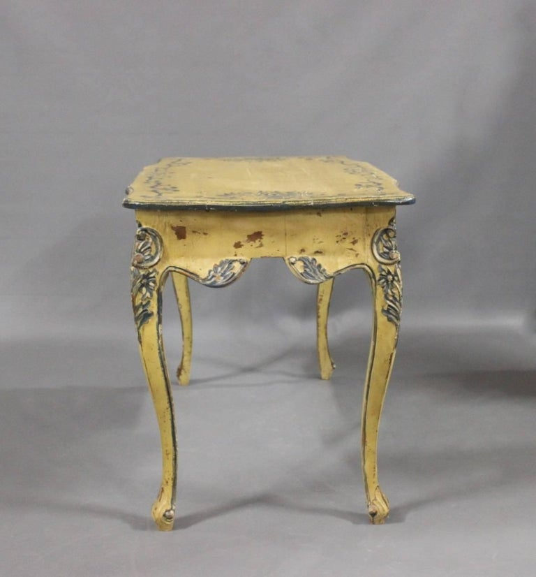 Antique Painted Desk In Light Colors From France 1930s
