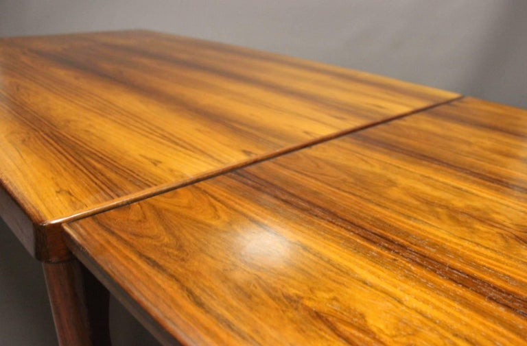 Mid-20th Century Dining Table in Teak with Extensions by Henning Kjærnulf, 1960s For Sale