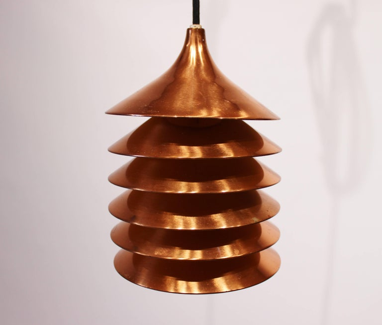 Mid-20th Century Pair of Copper Pendants of Danish Design from the 1960s For Sale