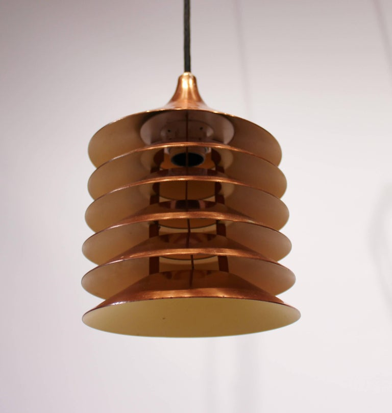 Pair of Copper Pendants of Danish Design from the 1960s For Sale 1