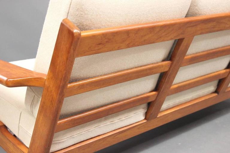 Wool Hans J. Wegner GE290 Sofa in Teak from 1960 For Sale