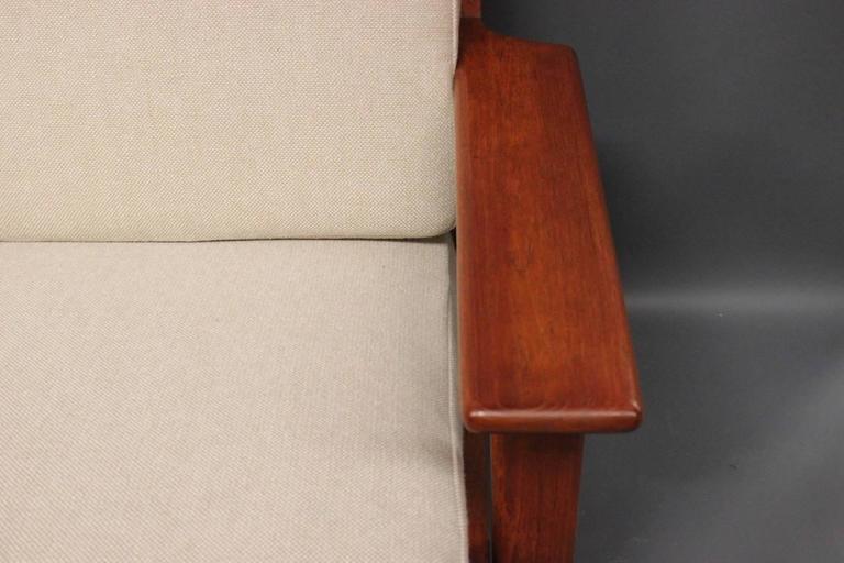 Hans J. Wegner GE290 Sofa in Teak from 1960 In Excellent Condition For Sale In Lejre, DK