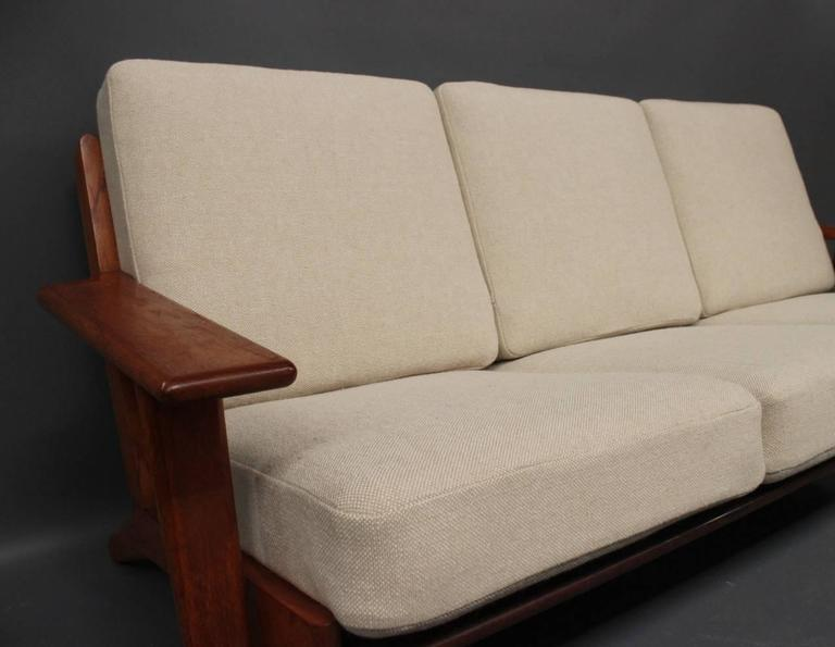 Danish Hans J. Wegner GE290 Sofa in Teak from 1960 For Sale