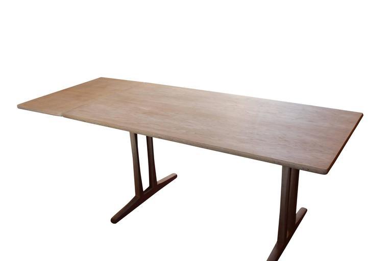 Scandinavian Modern Shaker Dining Table, C18, Designed By Børge Mogensen  And F.D.B. Furniture,