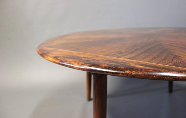 Large Round Coffee Table In Rosewood Designed By Henry W Klein And