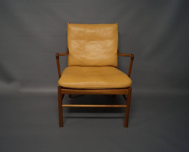 Colonial chair model pj149 in mahogany by ole wanscher for P jeppesen furniture
