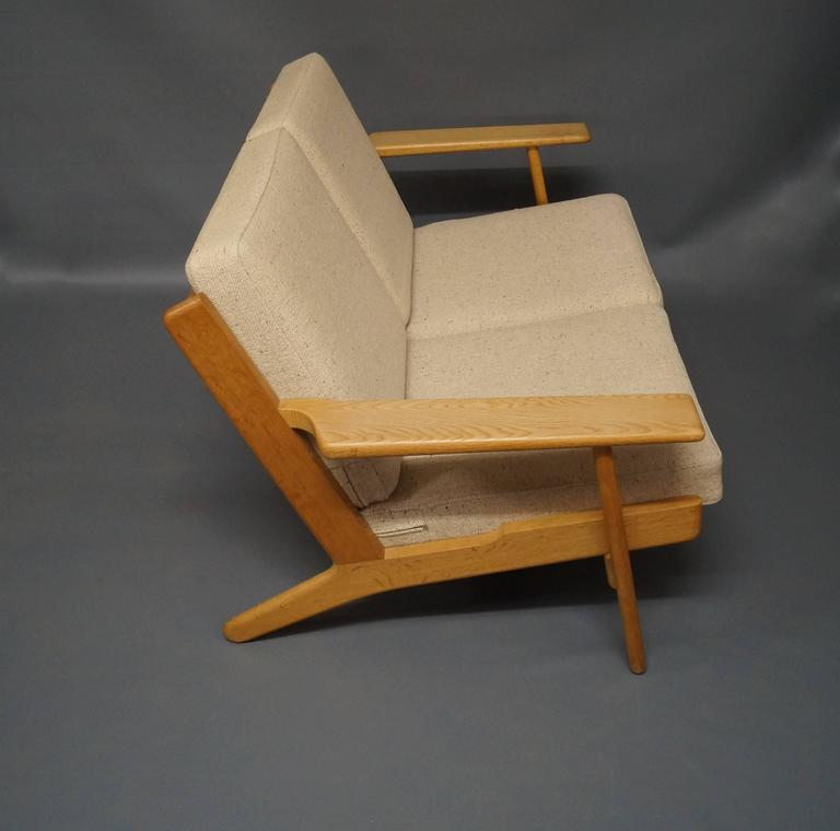 GE 290 Two-Person Sofa Designed by Hans J. Wegner, 1960s 3