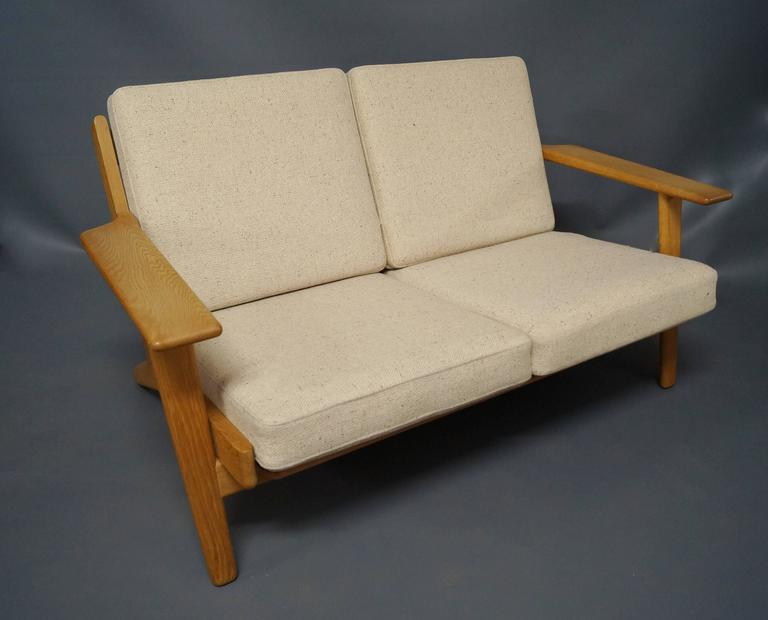GE 290 Two-Person Sofa Designed by Hans J. Wegner, 1960s 2