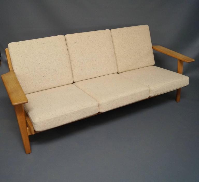 GE 290 Three Persons Sofa Designed by Hans J. Wegner 2