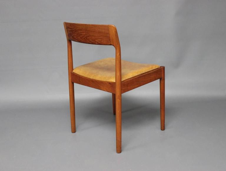 Danish Set of Six Dining Room Chairs in Teak by N.O. Møller, 1960s For Sale