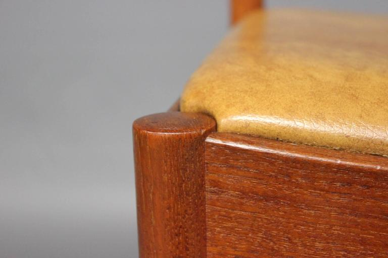 Mid-20th Century Set of Six Dining Room Chairs in Teak by N.O. Møller, 1960s For Sale