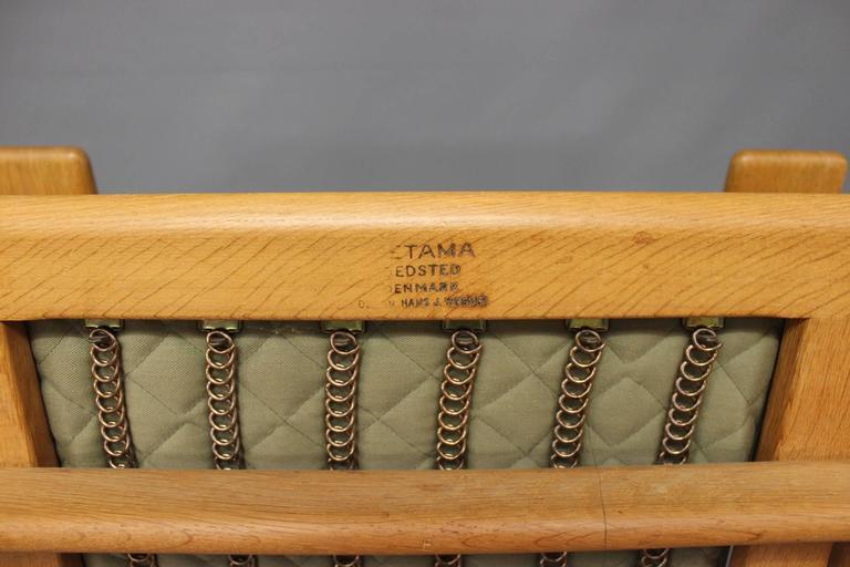 Wool Armchair, Model GE290A, by Hans J. Wegner and GETAMA, 1960s For Sale
