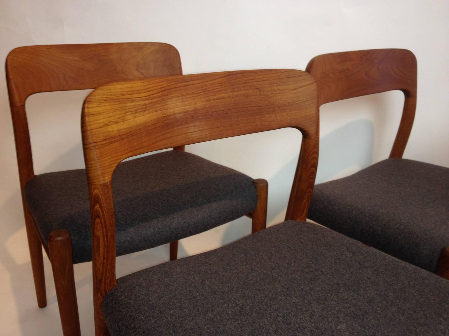 Set Of Four Niels Otto Moller Teak Dining Chairs For J L Moller At 1stdibs