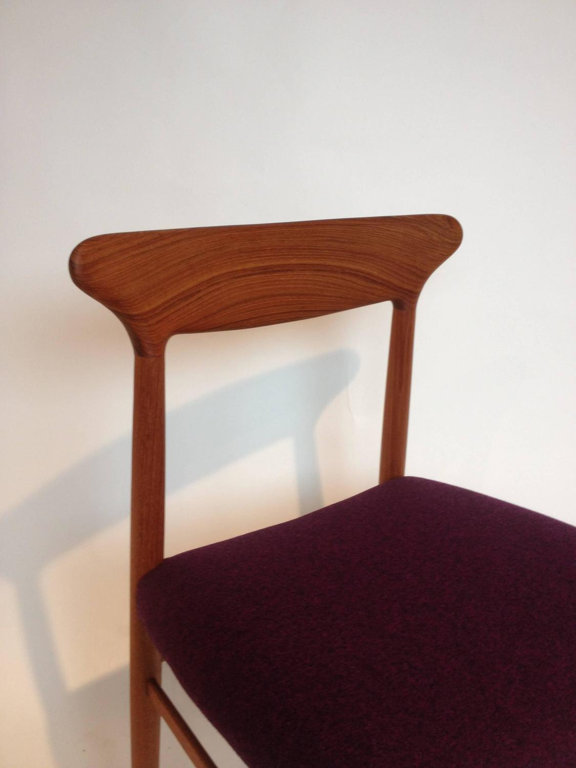 mid century modern teak dining or occasional chair by dyrlund denmark