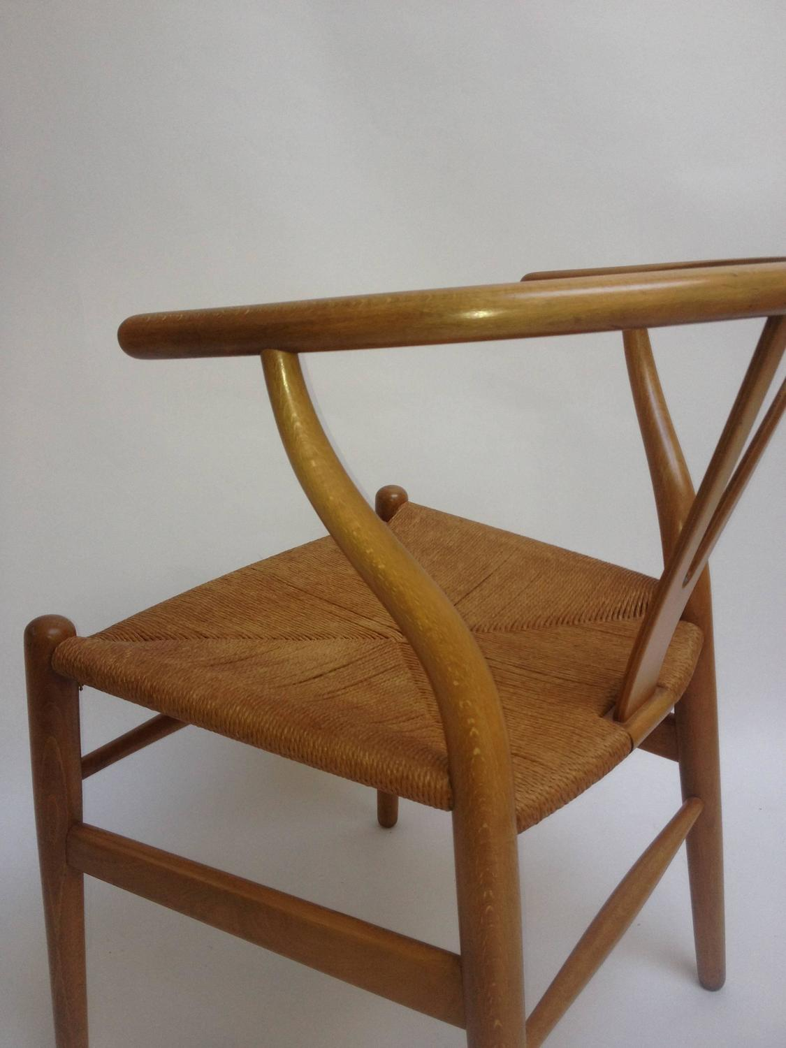 Mid century modern wishbone chair designed by hans wegner for carl hansen and son for sale at - Wishbone chair canada ...