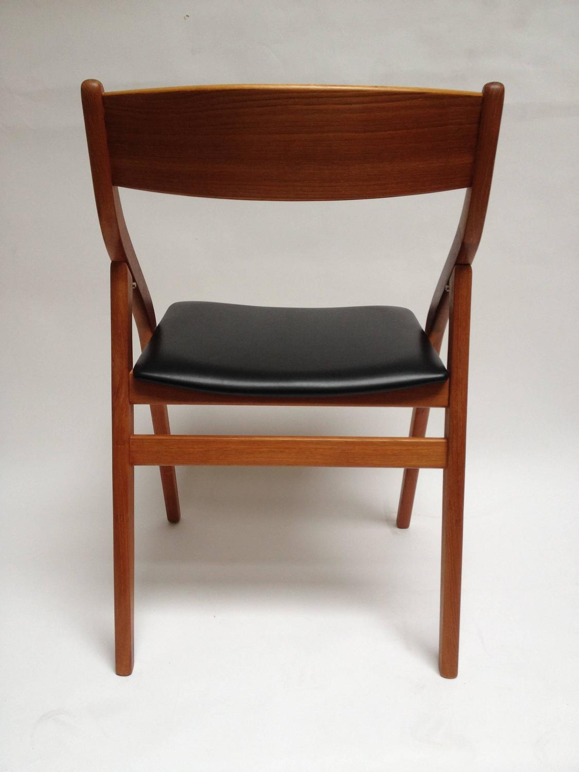 Spectacular Pair Of 1960s Danish Folding Chairs By Dyrlund At 1stdibs