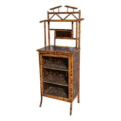 Superb English Bamboo Side Cabinet / Bookcase